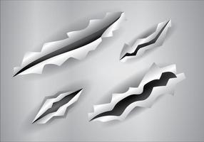 Illustration de vecteur de déchirure de métal libre