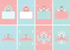 Invitation de carte de bébé vecteur