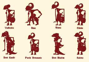 Culture de marionnettes javanaises vecteur