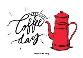 Vecteur national gratuit du jour du café