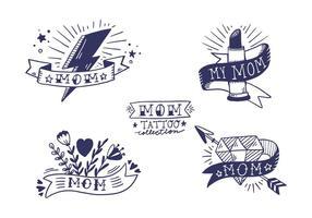 Collection gratuite de maman Tattoo vecteur