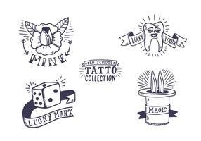 Collection gratuite de tatouage Old School vecteur