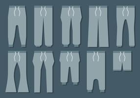 Vecteur d'icônes de pantalons de survêtement gratuit