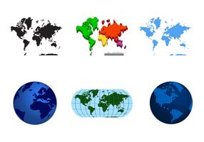 Vecteur gratuit de carte du monde