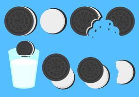 Vecteur de cookies oreo plat gratuit