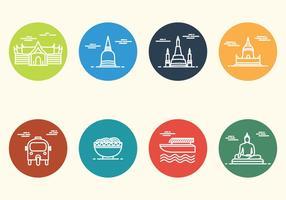 Icône Minimaliste gratuit de Bangkok vecteur