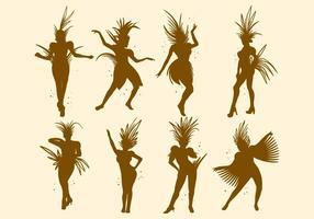Silhouette gratuite du vecteur samba