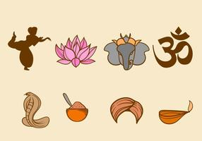 Icônes graphiques gratuites de l'Inde
