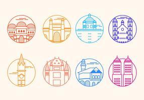 Icône vectorielle gratuite de Mumbai Landmark vecteur