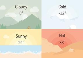 Illustration vectorielle météorologique vecteur
