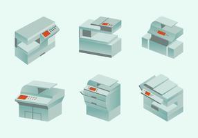 Photocopieur photocopieuse moderne design plat vecteur