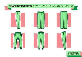 Sweatpants pack vecteur gratuit vol. 4