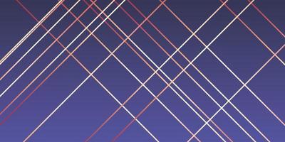 conception de bannière moderne avec des lignes en or rose