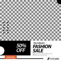 modèle de mise en page et de bannière de vente de mode