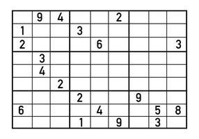 Vector de puzzle de Sudoku
