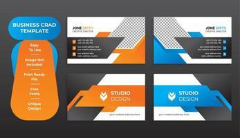 ensemble de modèles abstraits de carte de visite d'entreprise