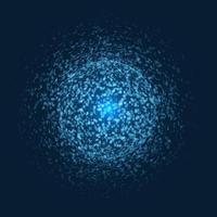 sphère explosive avec des points bleus. vecteur