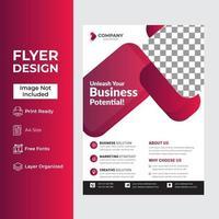 conception de modèle rouge pour brochure, rapport annuel ou dépliant vecteur