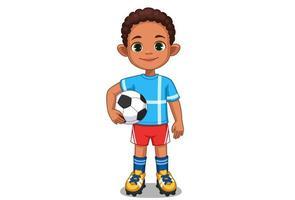 mignon petit joueur de football