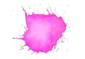 splash aquarelle douce rose