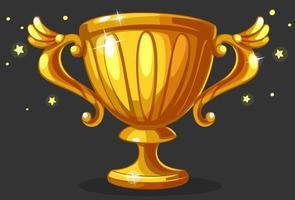 Coupe du trophée d'or champion vecteur