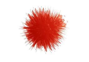 peinture à la main splash rouge