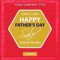 conception de promotion de vente de fête des pères vecteur