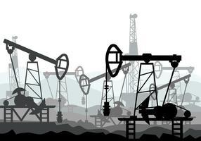 Illustration vectorielle de champ pétrolifère