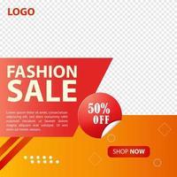 conception de publication de médias sociaux de vente de mode