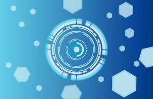 technologie abstraite espace numérique hexagone et conception de cercle