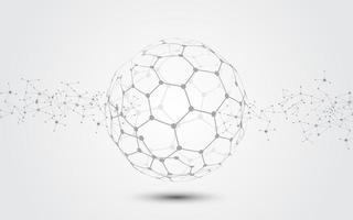fond de technologie abstraite de connexion réseau mondial vecteur
