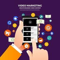 concept de marketing vidéo vecteur