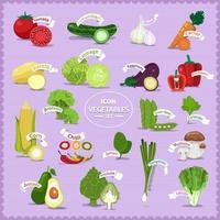 conception de dessin animé de légumes vecteur