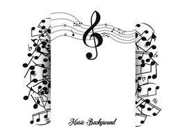 Modèle de fond de note de musique vecteur
