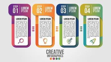 modèle de conception de chronologie moderne infographique pour les entreprises vecteur