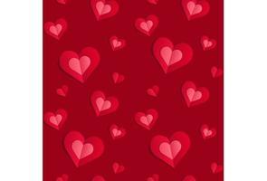 papier peint saint valentin motif de papier découpé vecteur