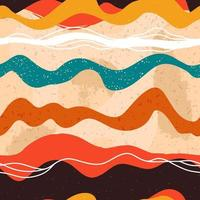 Modèle sans couture de lignes abstraites ondulées colorées