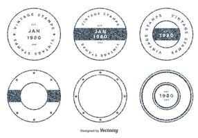 Ensemble de timbres vecteur vintage