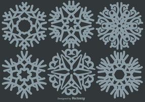 Ensemble de flocons de neige classique