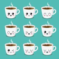 tasse de café collection de caractères