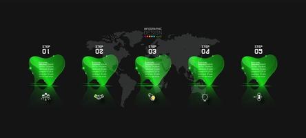 modèle de bannière infographique fluorescent
