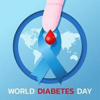bannière de la journée mondiale du diabète vecteur