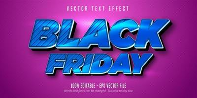 effet de texte modifiable vendredi noir bleu métallique vecteur