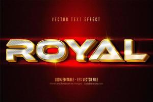 effet de texte modifiable d'or et d'argent de luxe royal