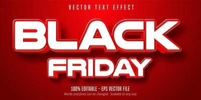effet de texte modifiable vendredi noir blanc et rouge