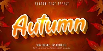 effet de texte modifiable de style automne orange