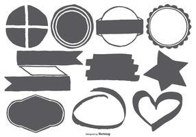 Formes vectorielles dessinées à la main