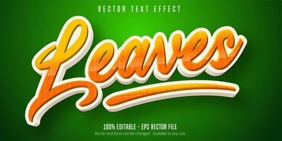 cercle orange laisse effet de texte modifiable de style dessin animé vecteur