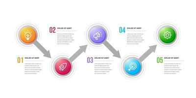 éléments de conception infographique circulaire créative