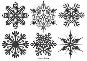Collection abstraite de forme de flocon de neige vecteur